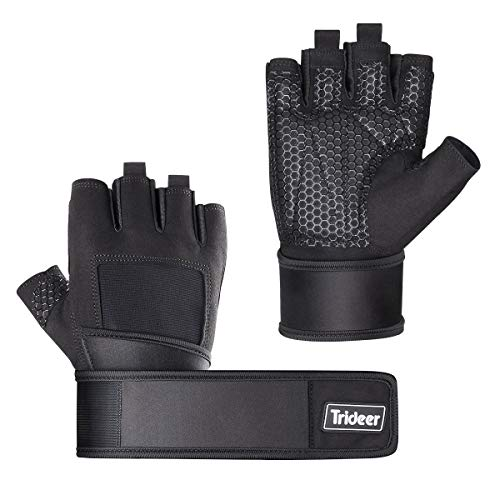 Trideer Padded Weight Lifting Gloves,...