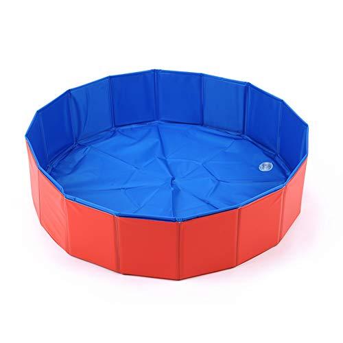 Hundepool,Hundepool Schwimmbad Für Hunde und Katzen Swimmingpool Hund Planschbecken Hundebadewanne Faltbarer Pool,Doggy Pool,Umweltfreundliche PVC,Gut Abgedichtet-Haustiere