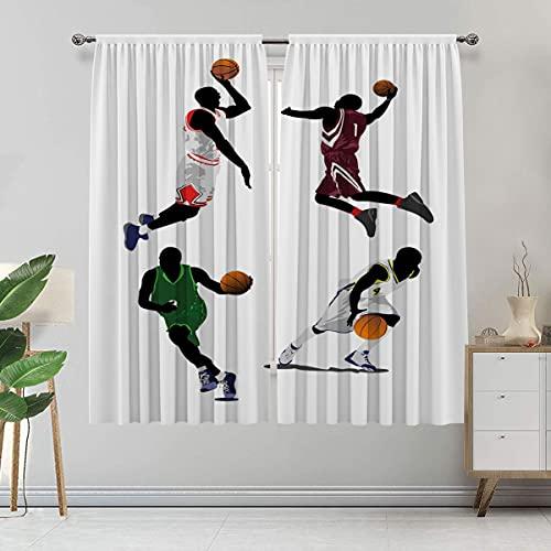 Alandana Cortinas deportivas, jugadores de baloncesto con aislamiento térmico, 2 paneles, cada panel de 91 cm de ancho x 183 cm de largo, multicolor