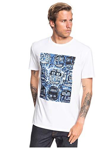 Quiksilver Mens Art House Face Ss Tee White XL