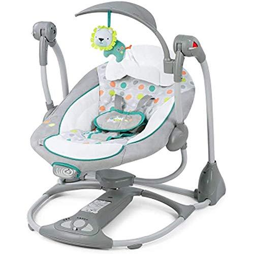 Asiento de swing de bebé, columpio portátil eléctrico para bebé nacido con...