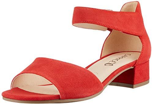 Caprice Damen 9-9-28212-26 Sandale mit Absatz, RED Suede, 39 EU