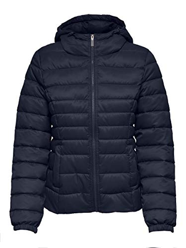 Only ONLNEWTAHOE Contrast Hood Jacket CC OTW Chaqueta, azul oscuro, S para Mujer