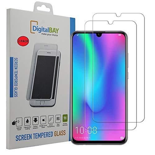 2 Pack Pellicola Vetro Temperato Huawei P Smart 2019, Digital Bay Resistente Pellicola Huawei P Smart 2019 Pellicola Protettiva Protezione Protettore Glass Screen Protector per Huawei P Smart 2019
