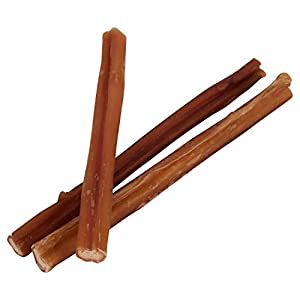 Pawstruck 7″ Straight Skinny Bully Sticks for Dogs or Puppies | All Natural & Odorless Bully Bones | Grass-Fed Beef | Small Thickness Dog Chew Dental Pizzle Treats | Best Thin Steer Bullie Stix