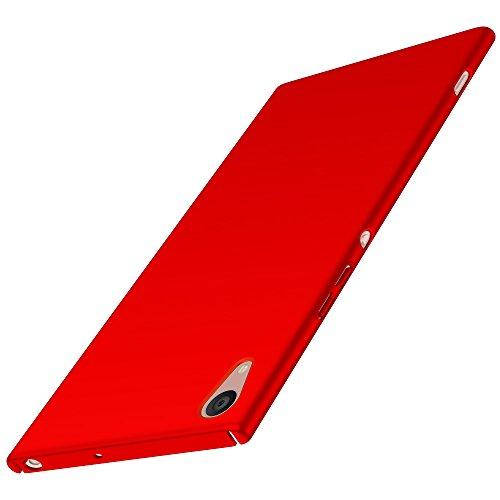 Sony Xperia XA1 Ultra Hülle, Anccer [Serie Matte] Elastische Schockabsorption & Ultra Thin Design für Sony Xperia XA1 Ultra (Glattes Rot)