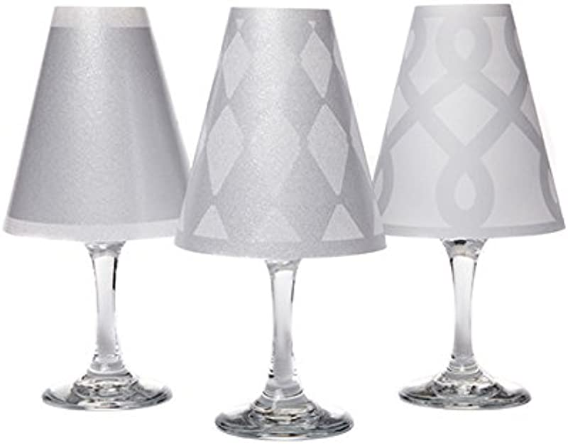 Di Potter WS138 Vienna Paper White Wine Glass Shade Silver Pack Of 6