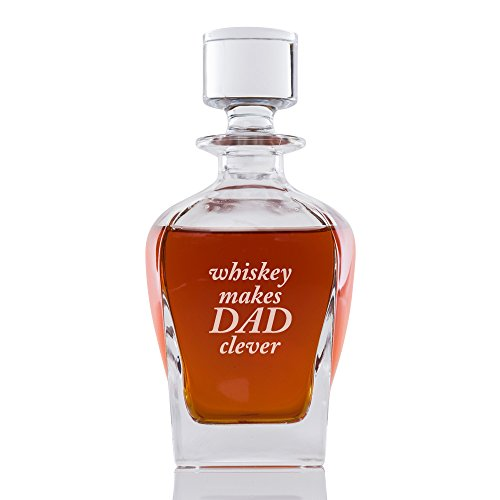 Whiskey Makes Dad Clever Engraved Park Ave Decanter