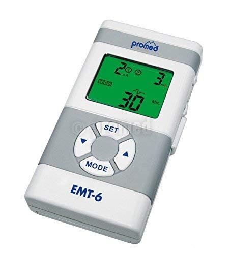 Promed EMT-6 - Aparato de terapia anti-dolor mediante electroestimulación, color blanco