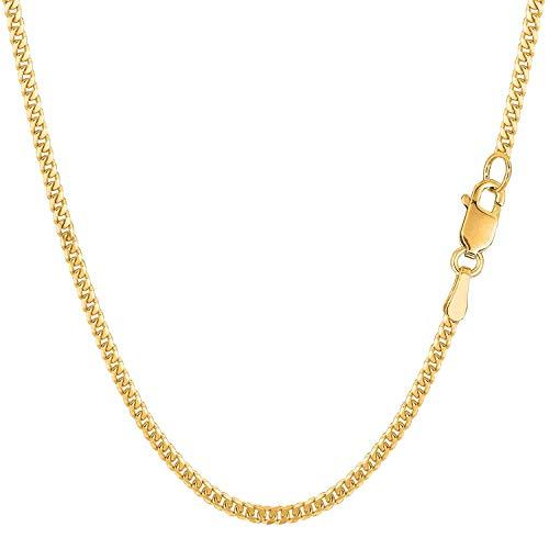 Catenina a maglia barbazzale in oro giallo 585, 14 carati, larghezza 1,75 mm, unisex e Oro giallo, cod. GD050YG