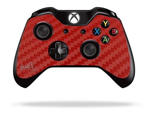Rode Koolstof Xbox One Afstandsbediening/Gamepad Sticker/Huid/Cover/Vinyl Decal