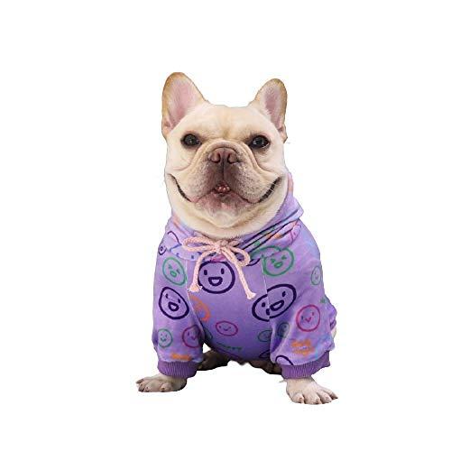 SummerXYH Ropa para Mascotas, Perro más suéter de Lana, Ropa para Perros Baja en Grasa, Adecuada para el Abrigo de Perro pequeño y Gato Schnauzer-Violeta_L