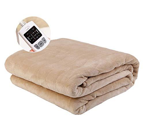 Preisvergleich Produktbild Authda Heizdecken für Bett mit Abschaltautomatik 180x200, 4 TemperaturstufenWärmeunterbett Plüsch für 2 Personen für Doppelbett Fernbedienung Wärmekissen (200X180)