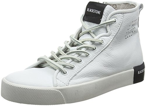 Blackstone Damen PL70 Hohe Sneaker, Weiß (White Whit), 37 EU