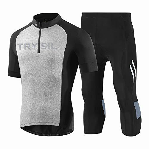 Jakiload fietsshirt korte mouw mannen MTB fiets kleding weg fiets Shirts korte broek gewatteerde broek