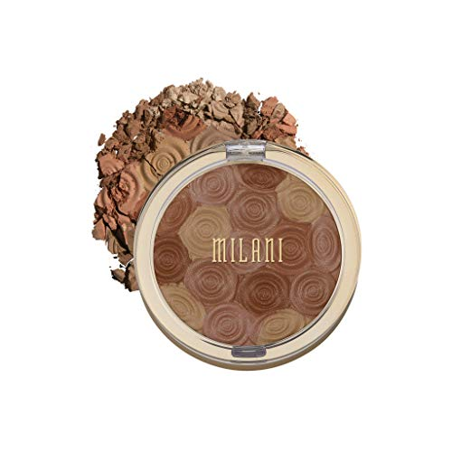 Milani Illuminating Face Powder - Hermosa Rose (0.35 Ounce) Cruelty-Free Highlighter, Blush & Bronzer in One Compact to Shape, Contour & Highlight