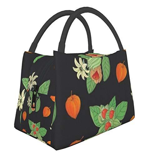 Bolsa de almuerzo portátil con aislamiento Cool (Colección de hierbas medicinales Mano) 8.5L