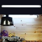 Changor Tubo de luz translúcido UVB Reptile, iluminación Blanca Luz de Tubo Fluorescente Decay Decay Sombra Sombra Calcio Necesidades ABS, Metal Made