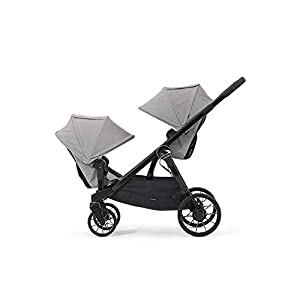 Baby Jogger City Select LUX Double Stroller | Includes Second Seat | Double Baby Stroller with All-Terrain Tires | Quick Fold Stroller, Slate