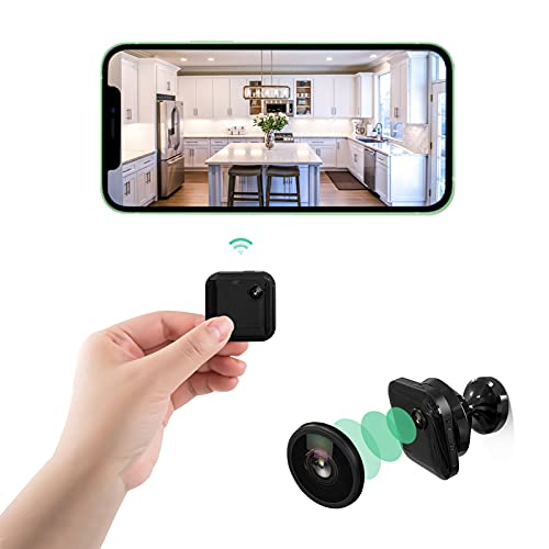 Mini WiFi Wireless Spy Camera, Portable Hidden Camera 1080P HD Nanny Cam with Night Vision Motion Detection Audio and Video Recording, for Home Security Surveillance Baby Monitor