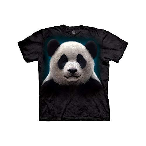 The Mountain Panda Head Child T-Shirt, Black, Small