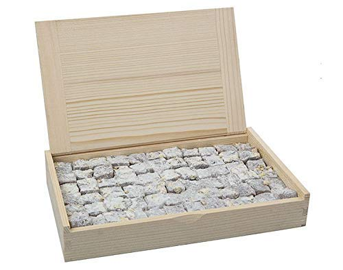 Premium Luxury Gourmet Turkish Delight With Extra Pistachios in Wooden Box, Historical Flavor Since 1777 (17.6 oz/500 g)