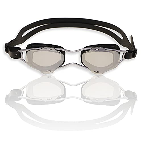 RABIGALA G585 - Gafas de natación, color plateado
