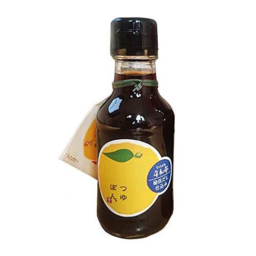 つゆぽん 150ml×3本 平和亭 ゆず果汁の生搾りのみ100%使用 香り高く、秘伝のそばつゆが旨い! お酢を使っていないので、酸味の苦手な方にもオススメの万能調味料