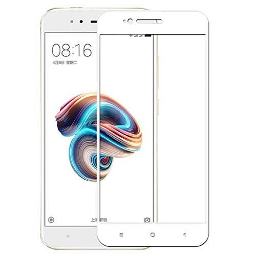 EUGO [2-Unidades] Xiaomi Mi A1/Xiaomi Mi 5X Protector de Pantalla, Alta Definicion No Hay Burbujas Vidrio Templado HD Film Protector de Pantalla Screen Protector Cobertura Completa Blanco