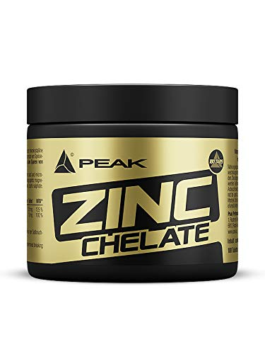 Peak Zink Chelat, 180 Tabletten, 1-er Pack (1 x 90 g)