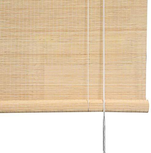 Bambus-Fensterrollos Lichtfilterung...