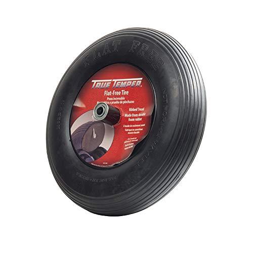 True Temper FFTCC 8 in. Hub Never Flat Wheelbarrow Tire with Ribbed Tread, 8-Inch,Black -  The AMES Companies, Inc.