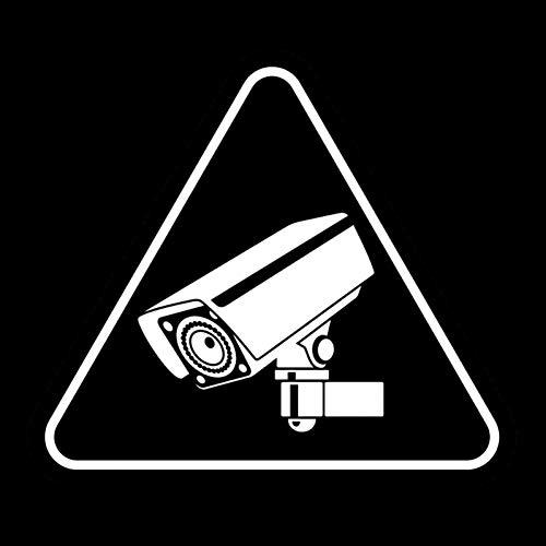 MCTYLI 13.4CM*11.8CM Cool Warning Sign Camera Tool Vinyl Zwart/Zilver Auto Sticker
