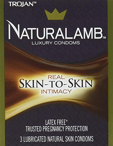 Trojan NaturaLamb Latex Free Luxury Condoms, 3ct