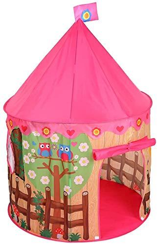 Juguete del juego carpa carpa plegable de muñecas juegos de impresión uso sala de jardín regalo juguetes de juego interior y exterior de las casas de los niños interiores y exteriores,Pink