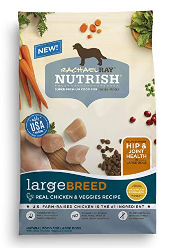 Rachael Ray Nutrish Large Breed Premium Natural Dry Dog Food Real Chicken amp Veggies Recipe 40 Pounds