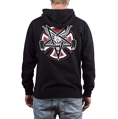 Independent Thrasher Pentagram Cross Sudadera Capucha Hombre Negro