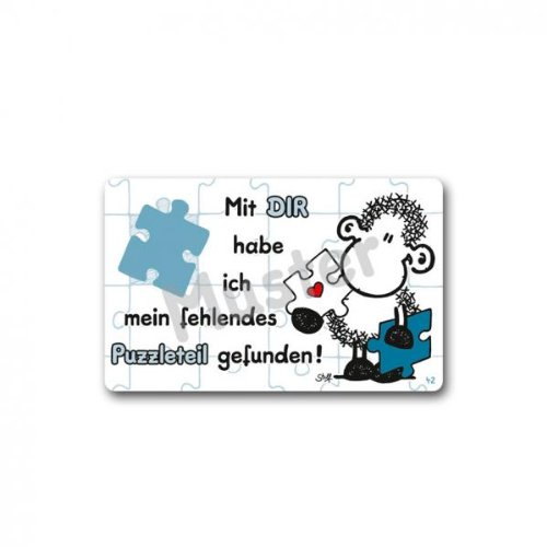 Sheepworld - 57134 - Pocketcard, Mit DIR Habe ich Mein fehlendes Puzzleteil gefunden!, PVC
