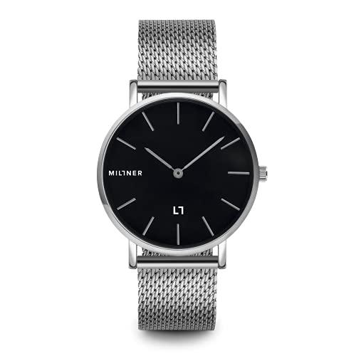 Miltner orologio Mayfair Silver Black 39mm Nero quarzo Acciaio MLW0014 - Default Title