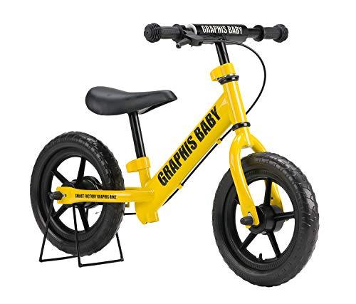 GRAPHIS(グラフィス) 幼児用 ペダルなし自転車 イエロー GR-BABY