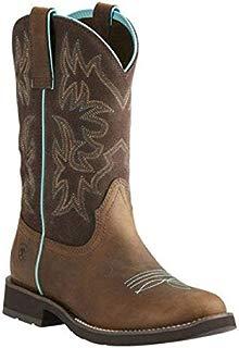[アリアト] レディース シューズ・靴 ブーツ Delilah Round Toe Cowgirl Boot Distressed Brown/Fudge Leather サイズ6-B [並行輸入品]