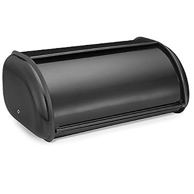 Polder 210201-95 Deluxe Bread Bin, Steel, 17  x 11  x 7 , Black