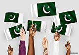 druck-shop24 Wunschmotiv: Hands Waving Flags of Pakistan