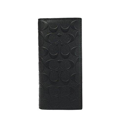 Coach Men's Signature Breast Pocket Wallet No Size (Black)
