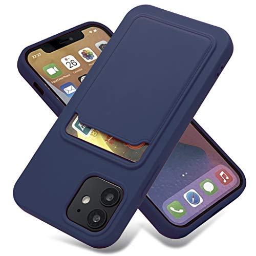 Billion Good iPhone iPhone12 Pro Wallet Case with Card Holder, Soft Silicone Sockproof Best Case,Protector Cover for Apple iPhone iPhone12 Pro,6.1 Inch - Baltic Blue