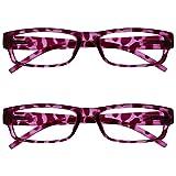 The Reading Glasses Company Gafas De Lectura Rosa Concha Ligero Cómodo Lectores Valor Pack 2 Estilo Diseñador Hombres Mujeres Uvr2Pk032Pk +1,00 2 Unidades 70 g