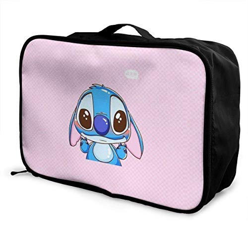 Travel Duffel Bag Lovely Stitch Lightweight Large Capacity Portable Lage Bag Weekender Bag Overnight Carry-on Tote