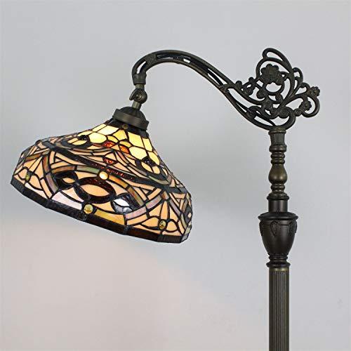 HDO Lámpara de pie del café de la lámpara de piso de 12 pulgadas Lámpara de pie del sofá creativo retro del dormitorio
