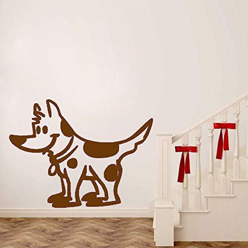 zhuziji Calcomanías de Perro moteadas Lindas PVC Room Home Kids Decor Wall Stickers 88A-2 55CM * 42CM
