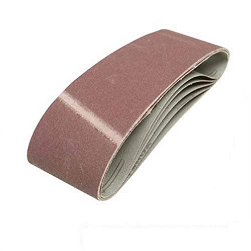 Silverline 391857 - Bandas de lija 75 x 533 mm, 5 pzas Grano 40
